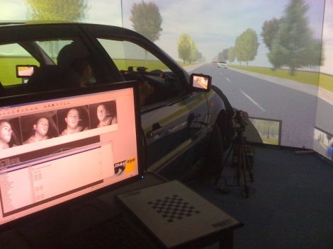Driving simulator in action